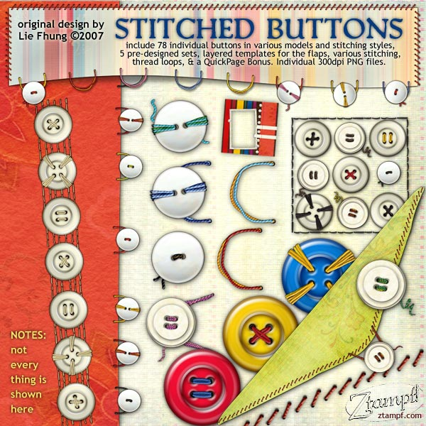 Stitched Buttons