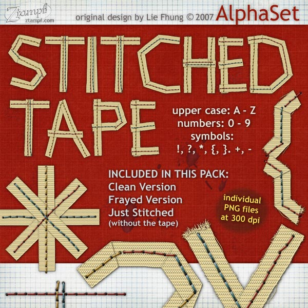 Stitched Woven Tape AlphaSet