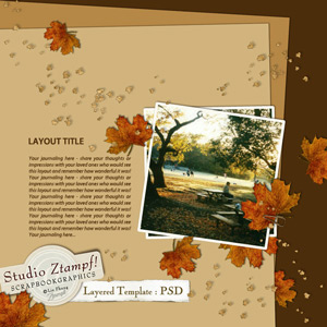 Click To Download November Layered Template PSD