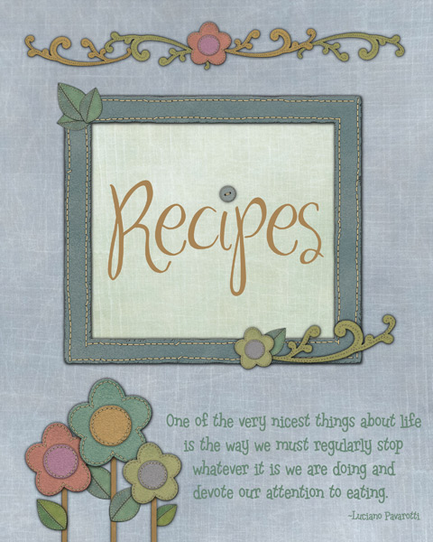 recipe circle journal cover page