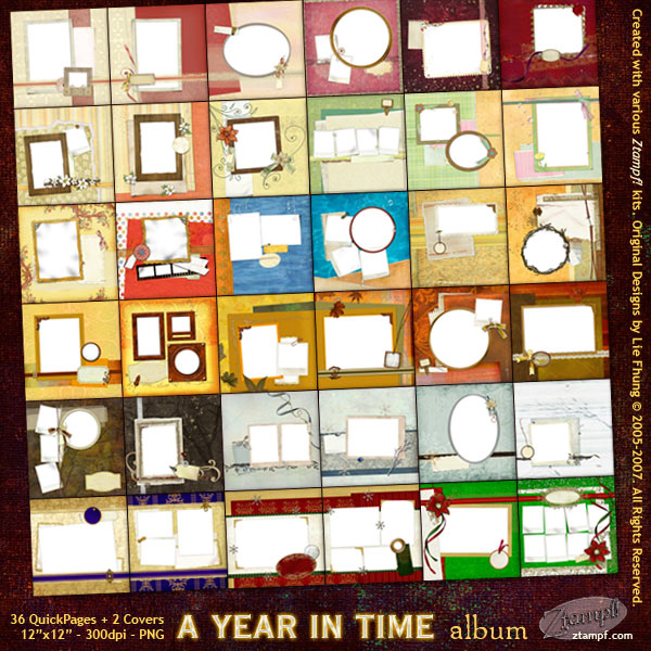A Year In Time Mega Album Set - DOWNLOAD Version A Year In